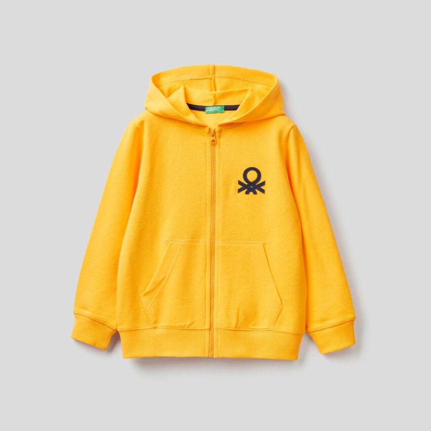 Sweatshirt mit Reißverschluss und Kapuze