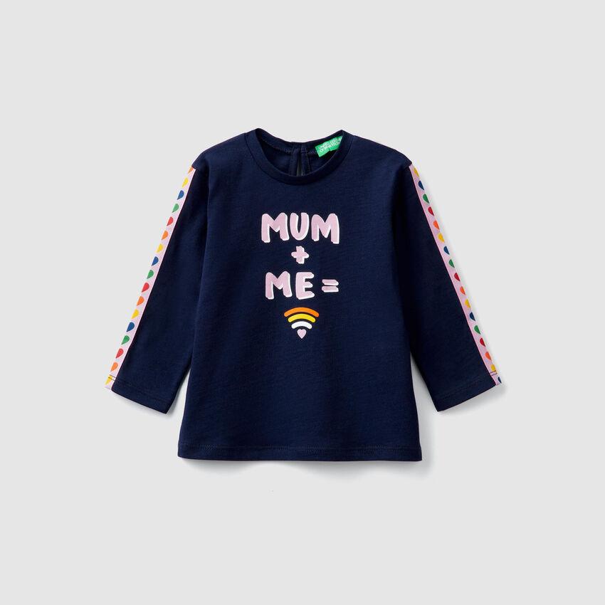 T-Shirt mit Bändern und Print
