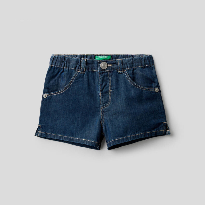 Shorts aus Chambray