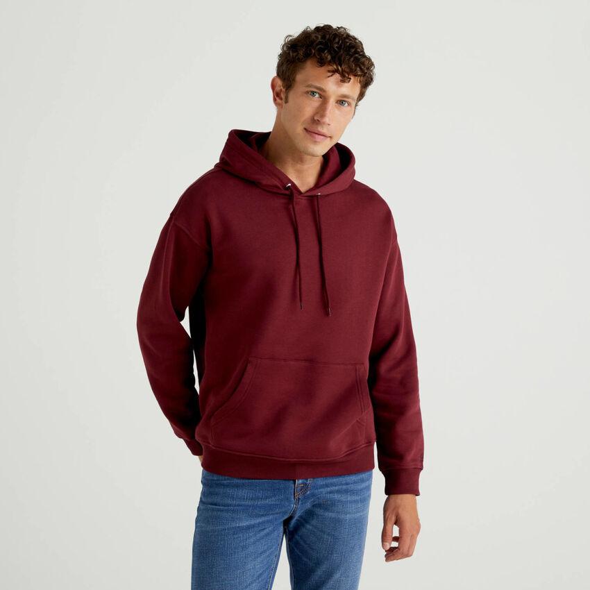Sweatshirt aus einer Baumwollmischung mit Kapuze