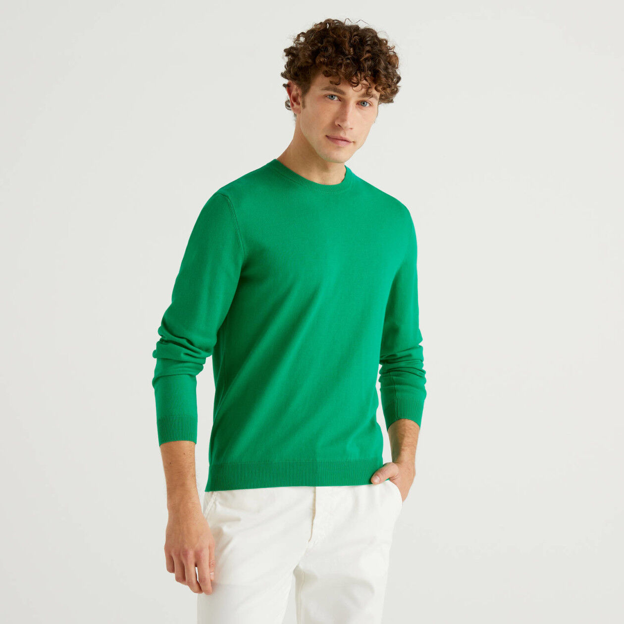 Pullover mit Rundausschnitt aus Baumwolle