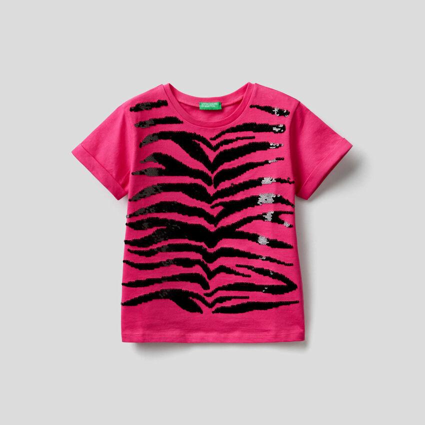 T-Shirt mit Pailletten