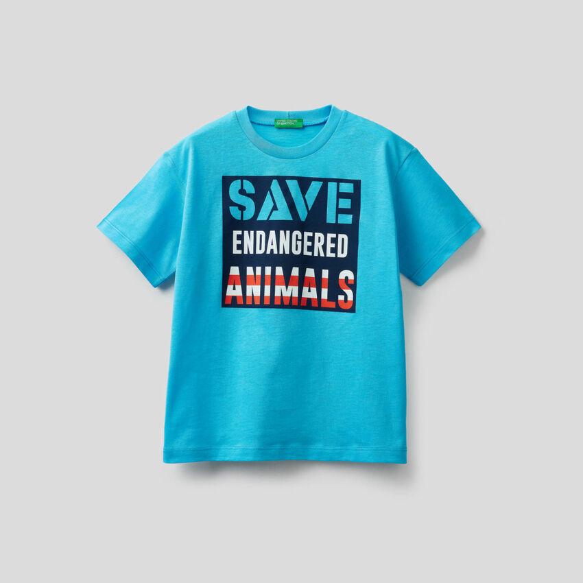 T-Shirt aus reiner Baumwolle mit Print