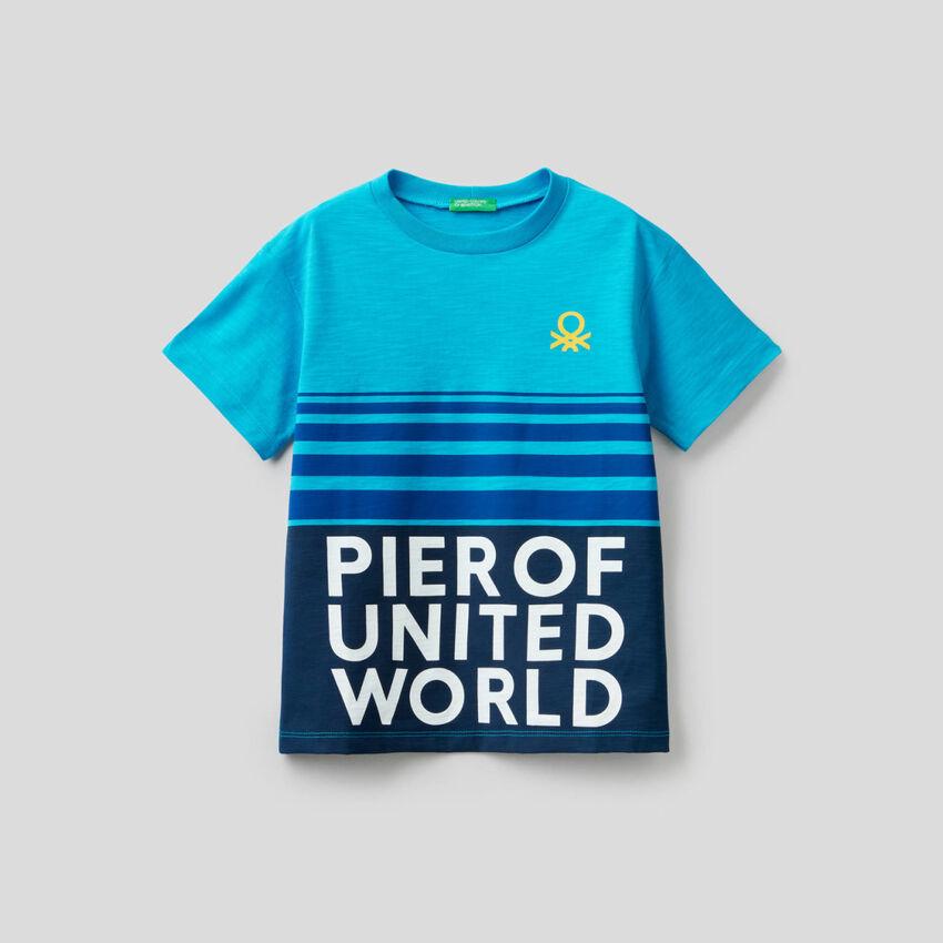 T-Shirt aus Baumwolle mit Prints