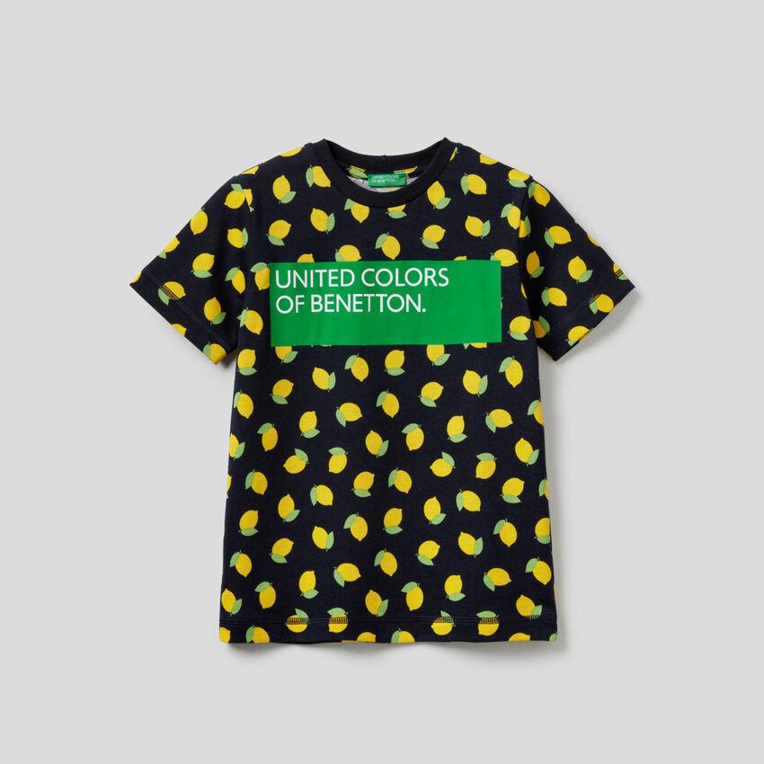 T-Shirt mit Print aus 100% Baumwolle