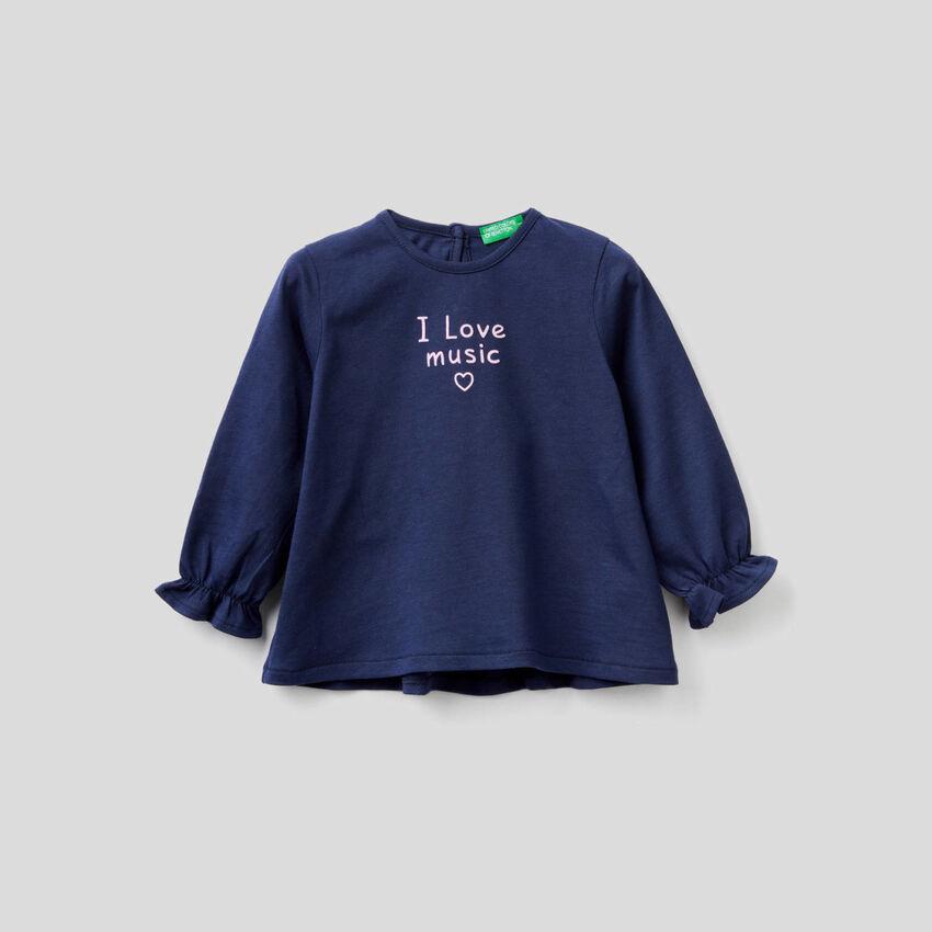 T-Shirt mit Rüsche hinten