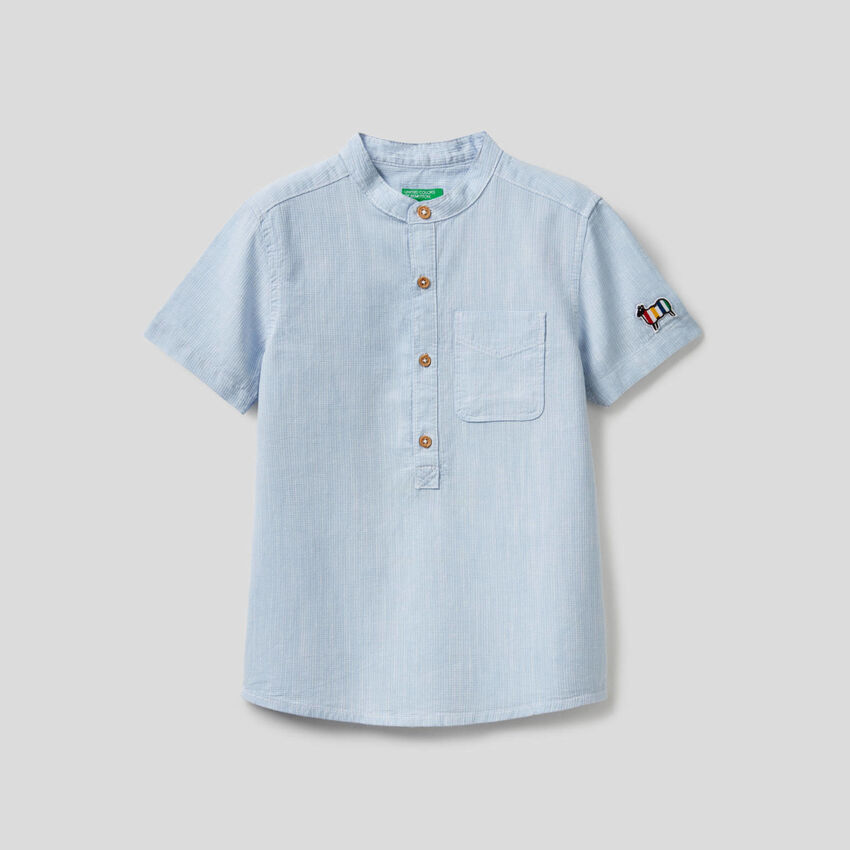 Hemd aus 100% Baumwolle mit kurzen Ärmeln