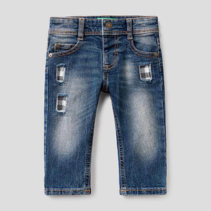 "Jeans ""Eco-Recycle"" mit Flicken"