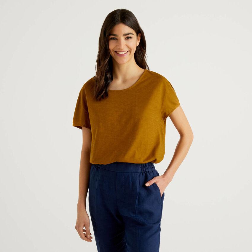 Oversize-T-Shirt in reiner Baumwolle