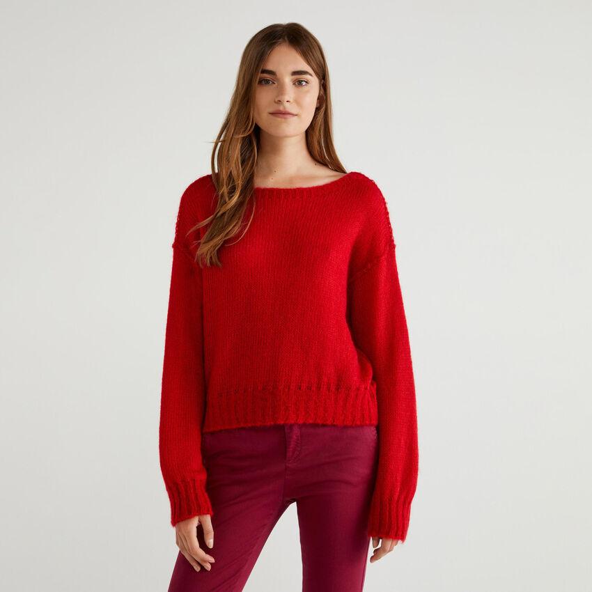 Pullover aus Mohair-Mischung