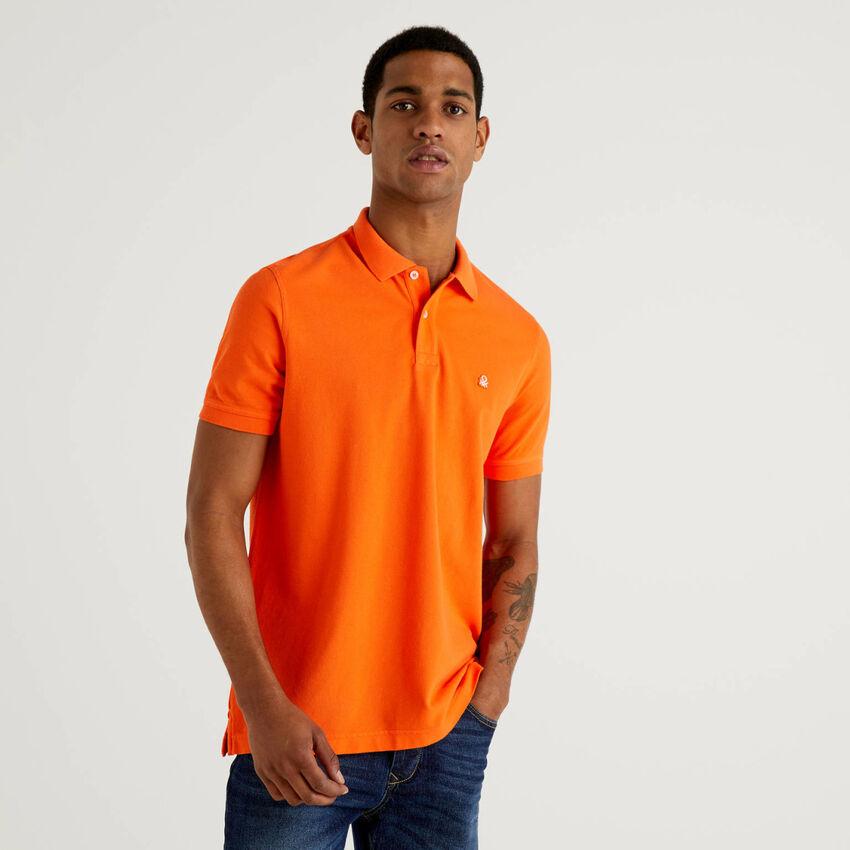 Regular-Fit-Polo in Orange