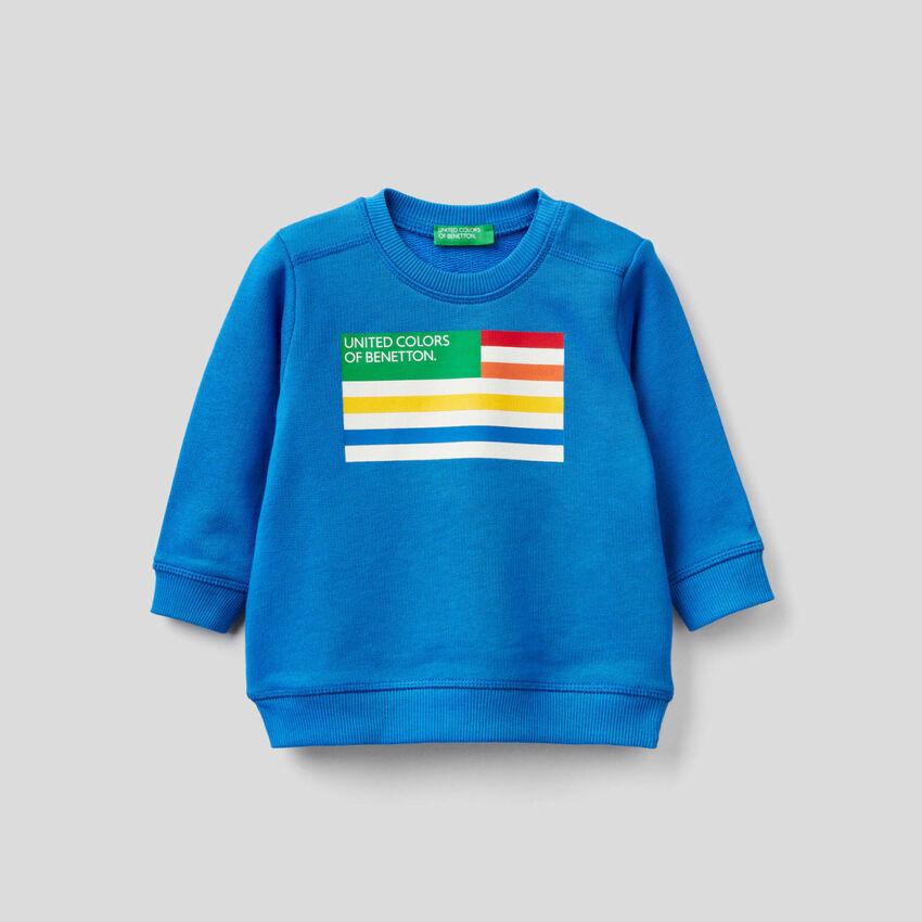 Sweatshirt in 100% Bio-Baumwolle