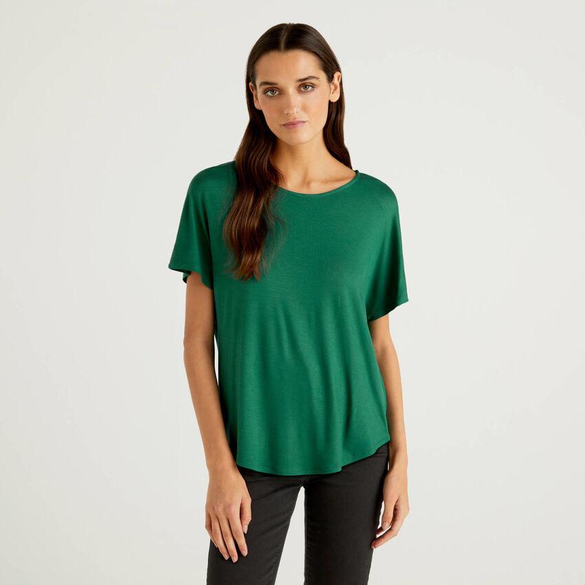 T-Shirt aus elastischer, nachhaltiger Viskose