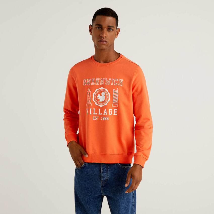 Sweatshirt aus 100% Bio-Baumwolle mit Print