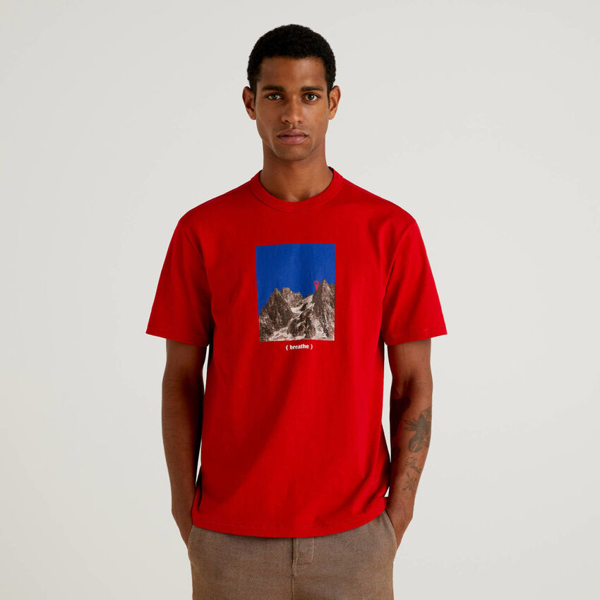 T-Shirt aus 100% Bio-Baumwolle mit Print