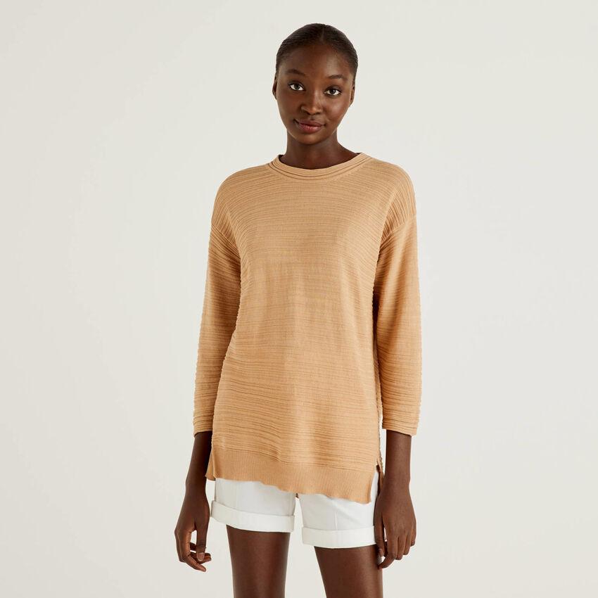 Pullover aus 100% Baumwolle mit besonderer Verarbeitung