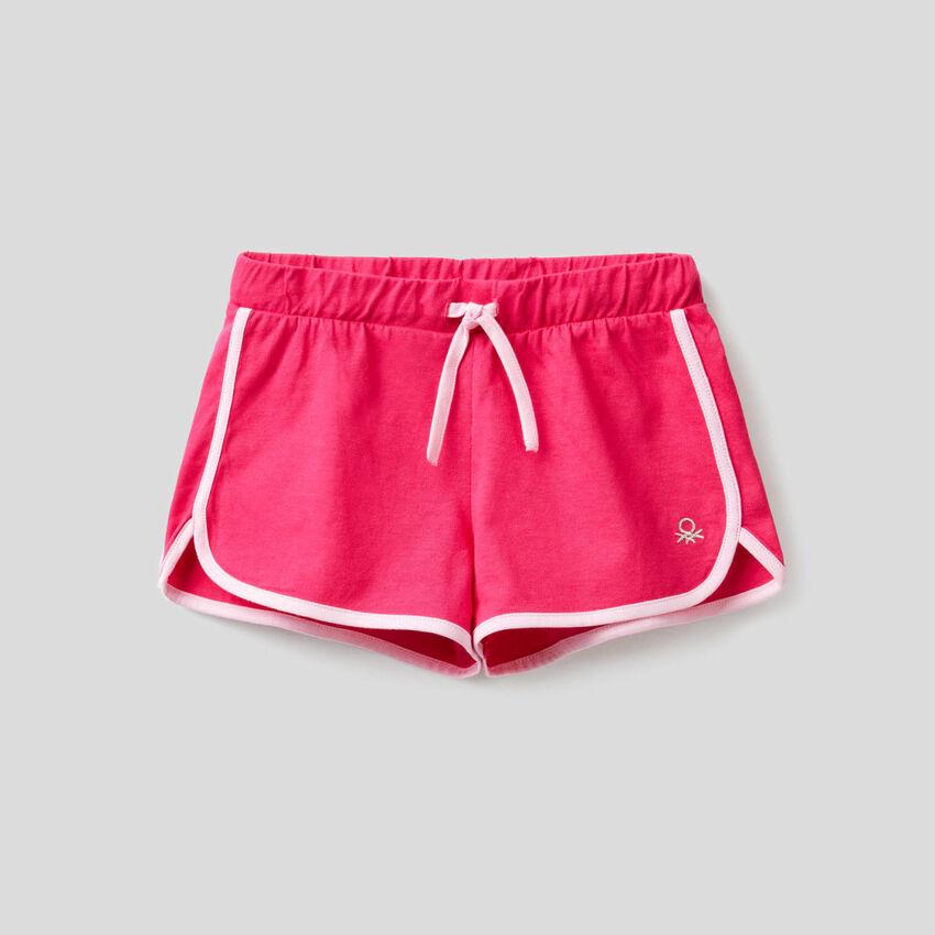 Shorts im Runner-Stil in 100% Baumwolle