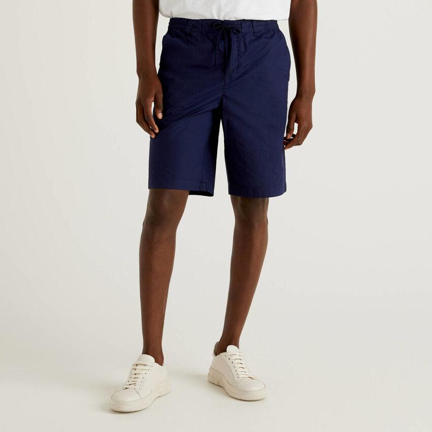 Shorts aus 100% Baumwolle mit Tunnelzug