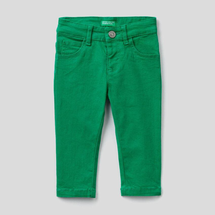 Slim-Fit-Hose mit fünf Taschen