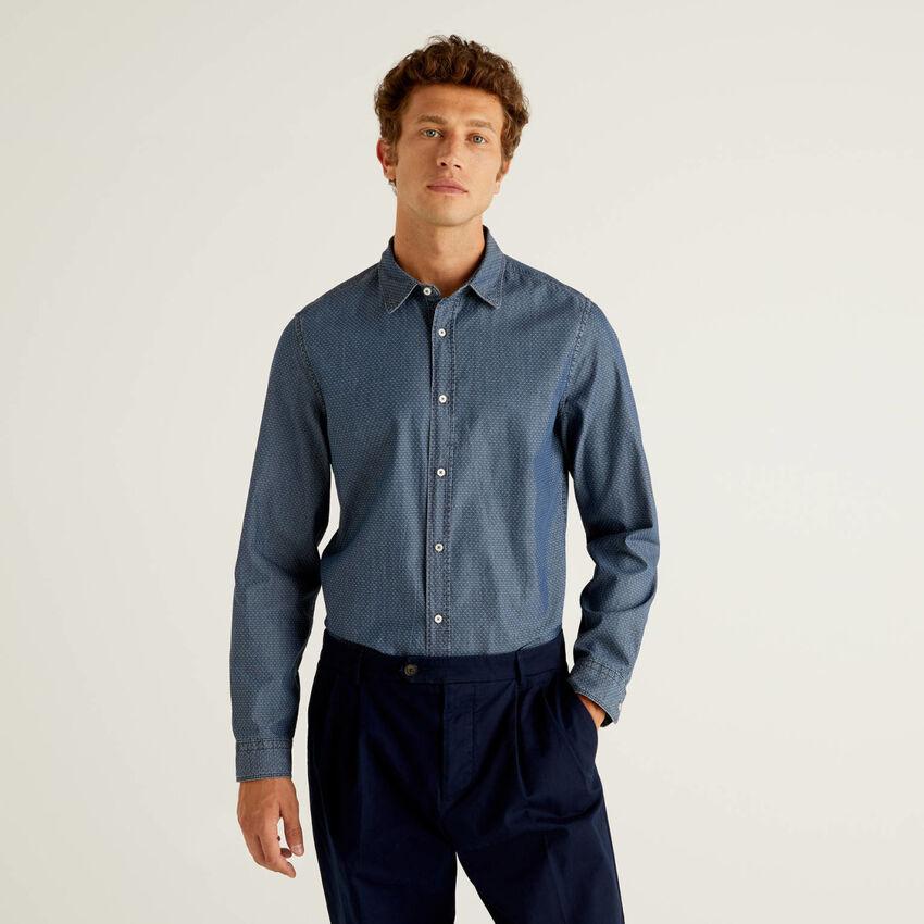 Slim-Fit-Hemd in 100% Baumwolle