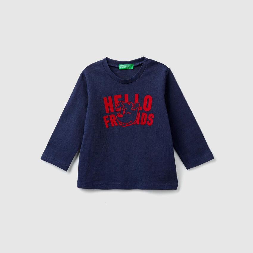 T-Shirt aus Jersey mit Print