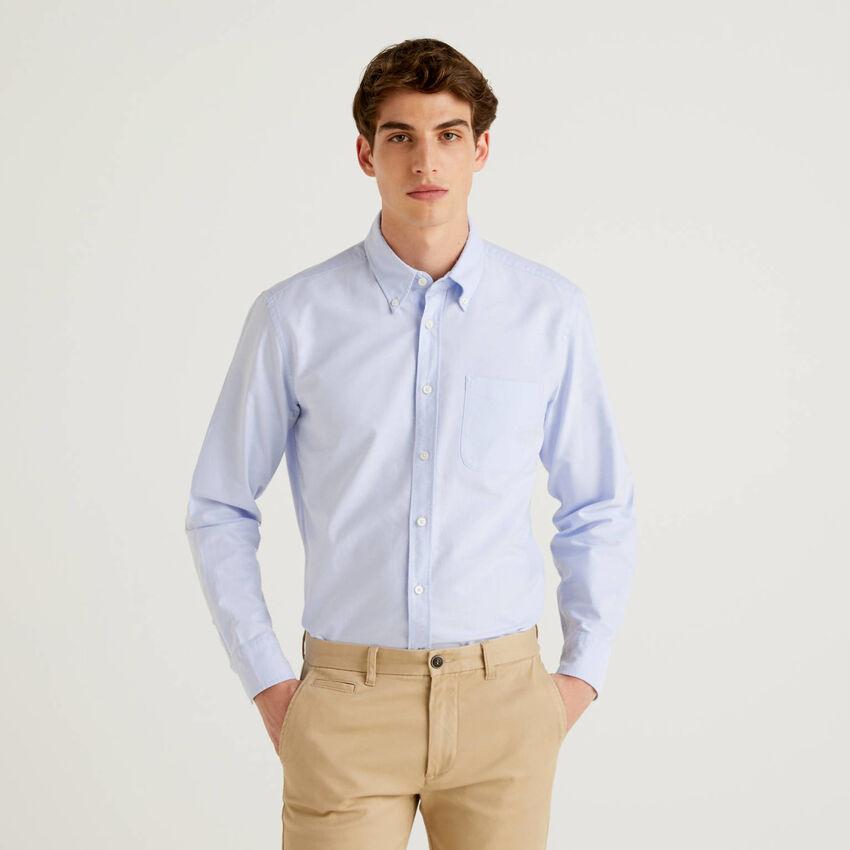 Regular Fit-Hemd aus 100% Baumwolle