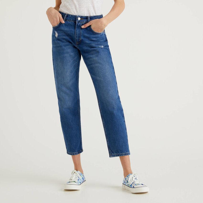 Slim-Fit-Jeans mit Destroyed-Effekten