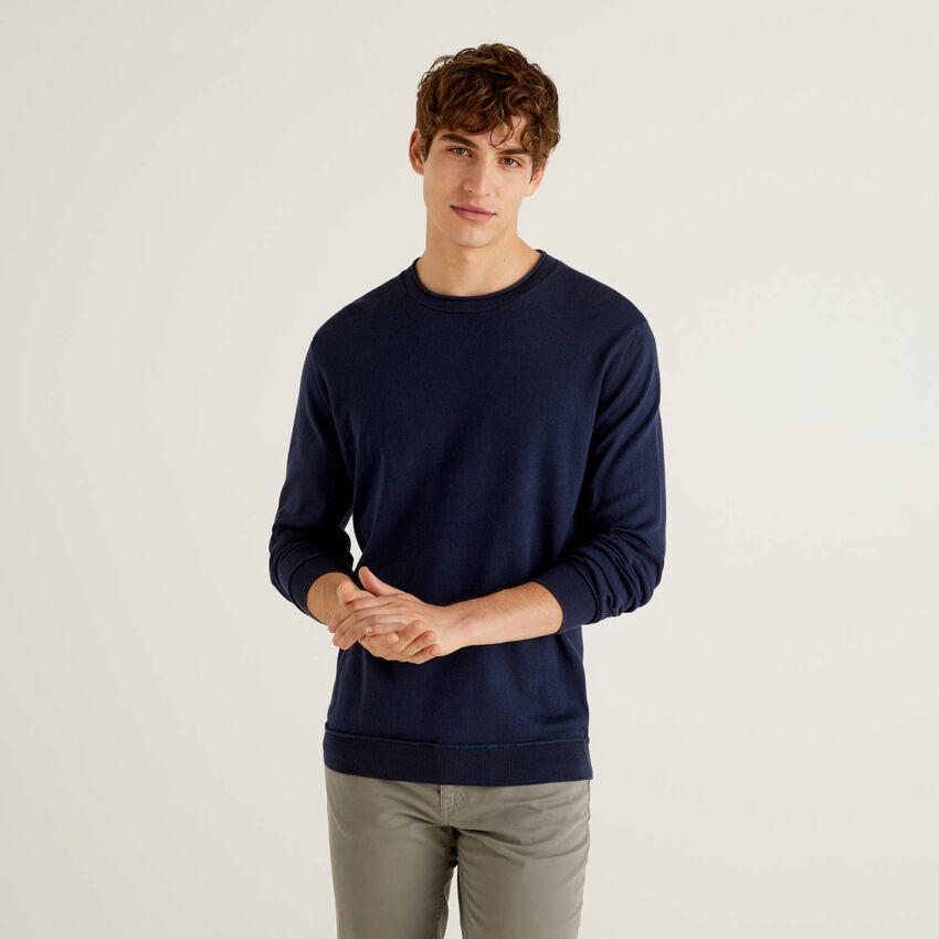 Pullover aus 100% Baumwolle mit warmer Haptik