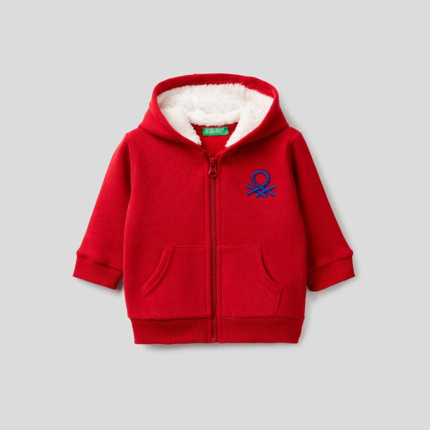 Kapuzensweater mit Fleece-Futter