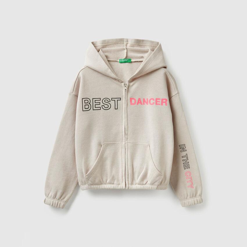 Kurzes Sweatshirt mit Reißverschluss
