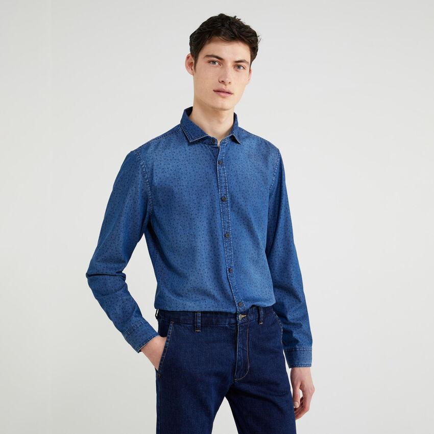 Slim-Fit-Hemd aus Chambray