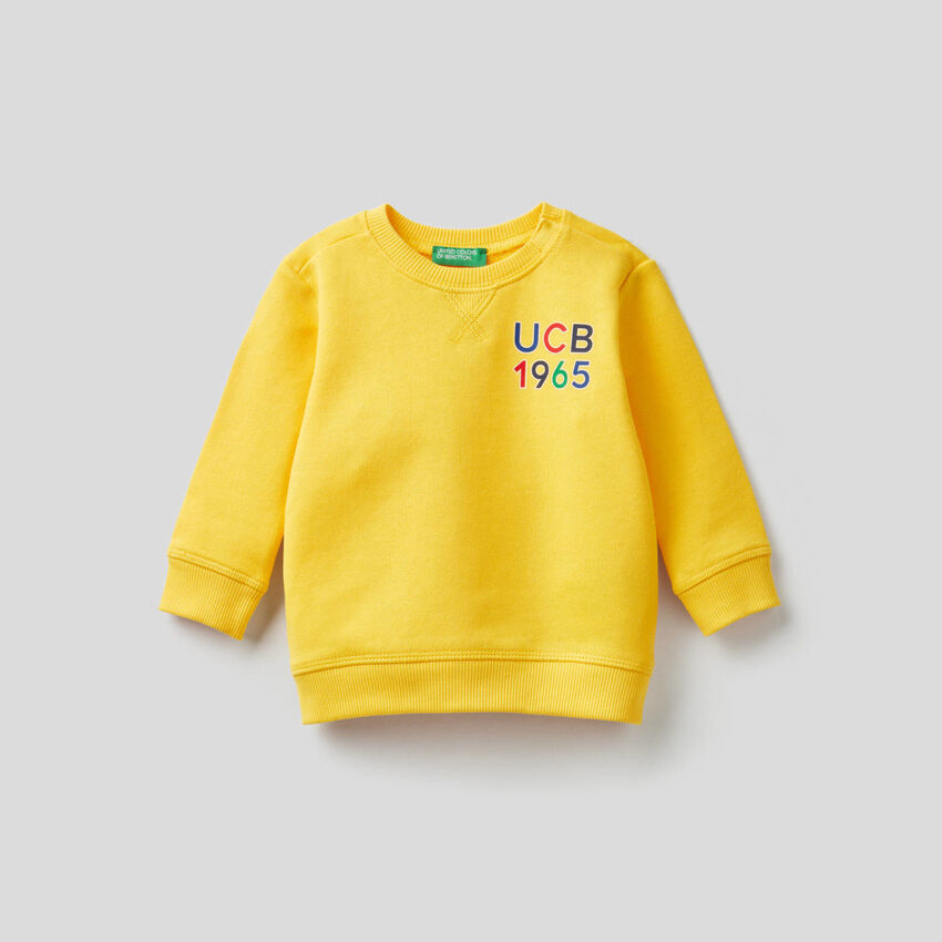 Sweatshirt aus Bio-Baumwolle mit Print