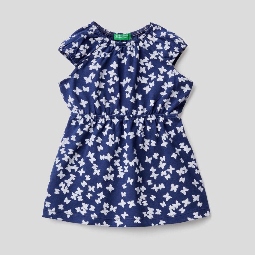 Kleidchen aus reiner Baumwolle mit Print