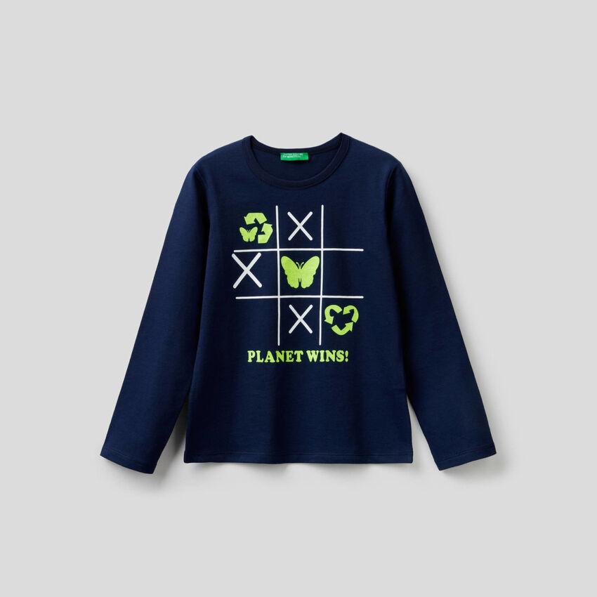 T-Shirt aus 100% Baumwolle