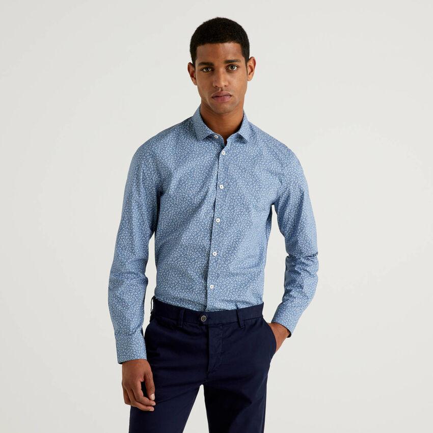 Slim-Fit-Hemd mit Print