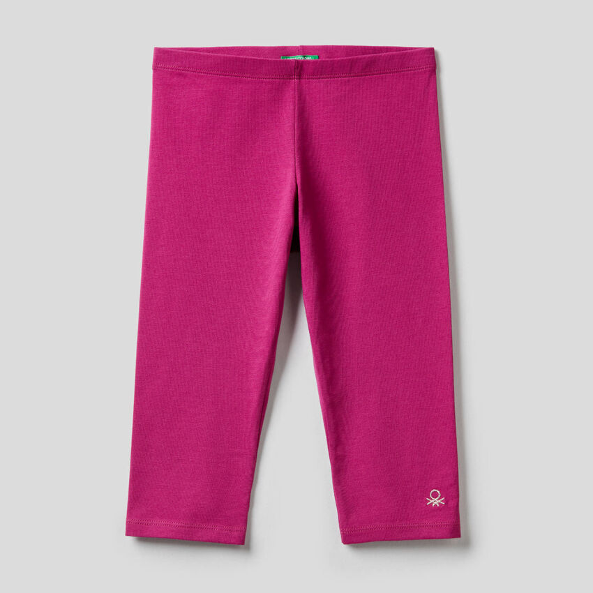 3/4-Leggings aus stretchiger Baumwolle