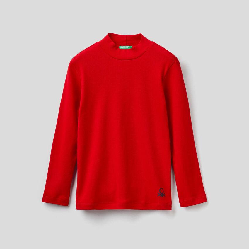 T-Shirt Dolcevita aus Bio-Baumwolle
