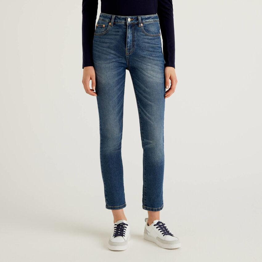 Skinny-Jeans aus Denim in stretchiger Baumwolle