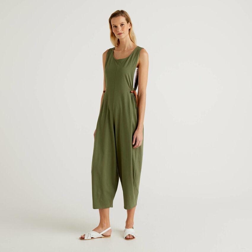 Ärmelloser Oversize-Jumpsuit