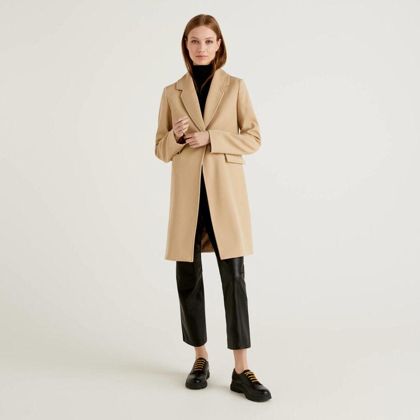 Mantel mit Reverskragen