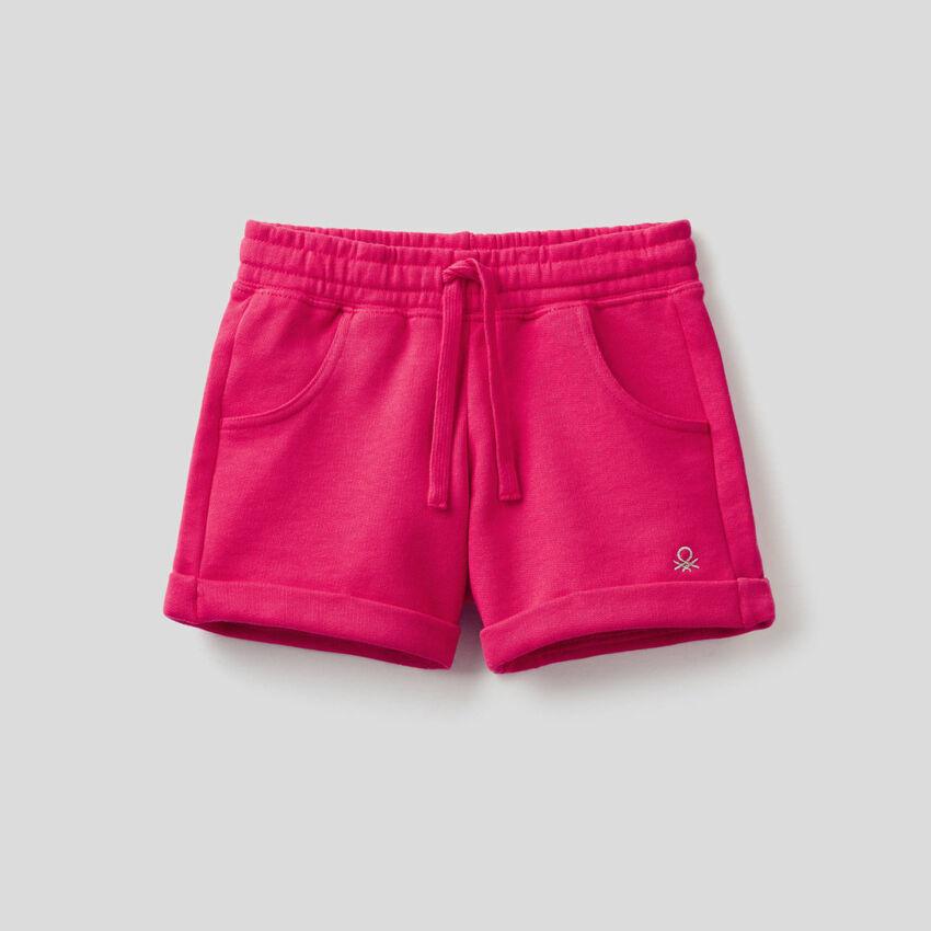 Shorts aus Sweatstoff in reiner Baumwolle