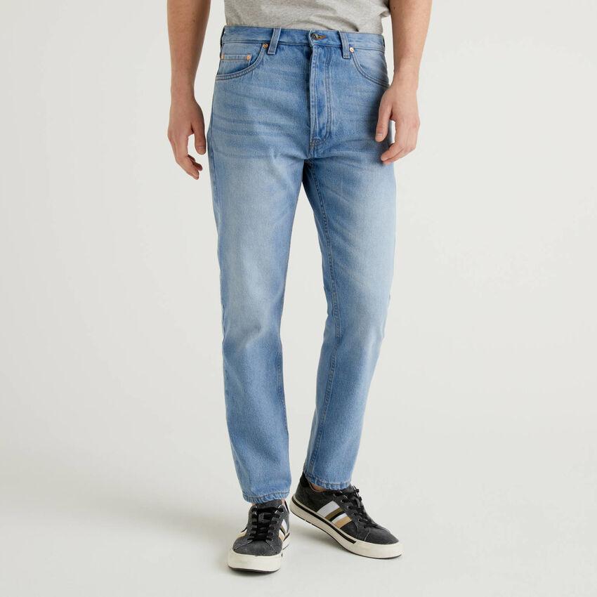 Five-Pocket-Jeans aus 100% Baumwolle