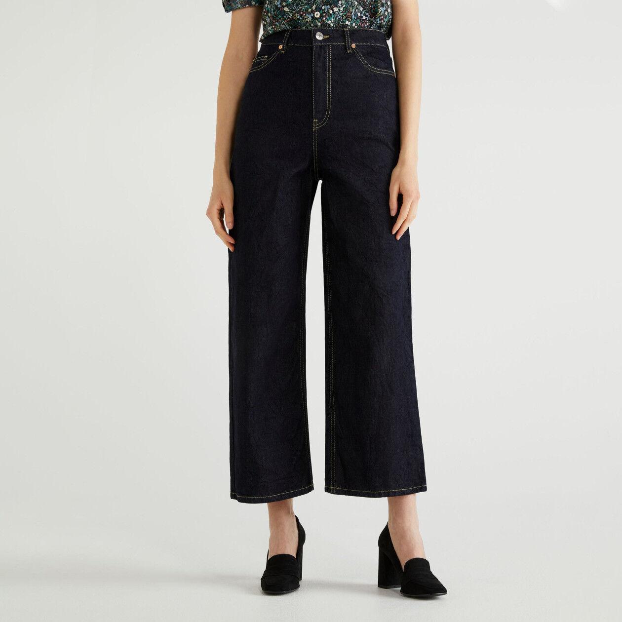 Jeans aus stretchigem Denim im Mum Fit
