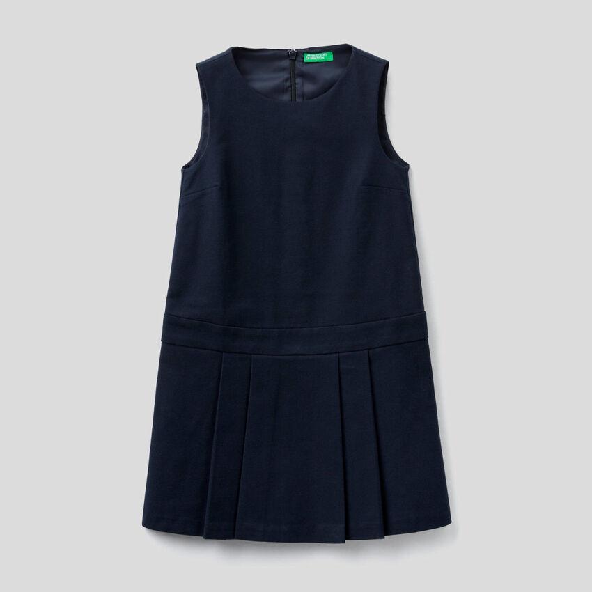 Ärmelloses Kleid aus stretchigem Flanell