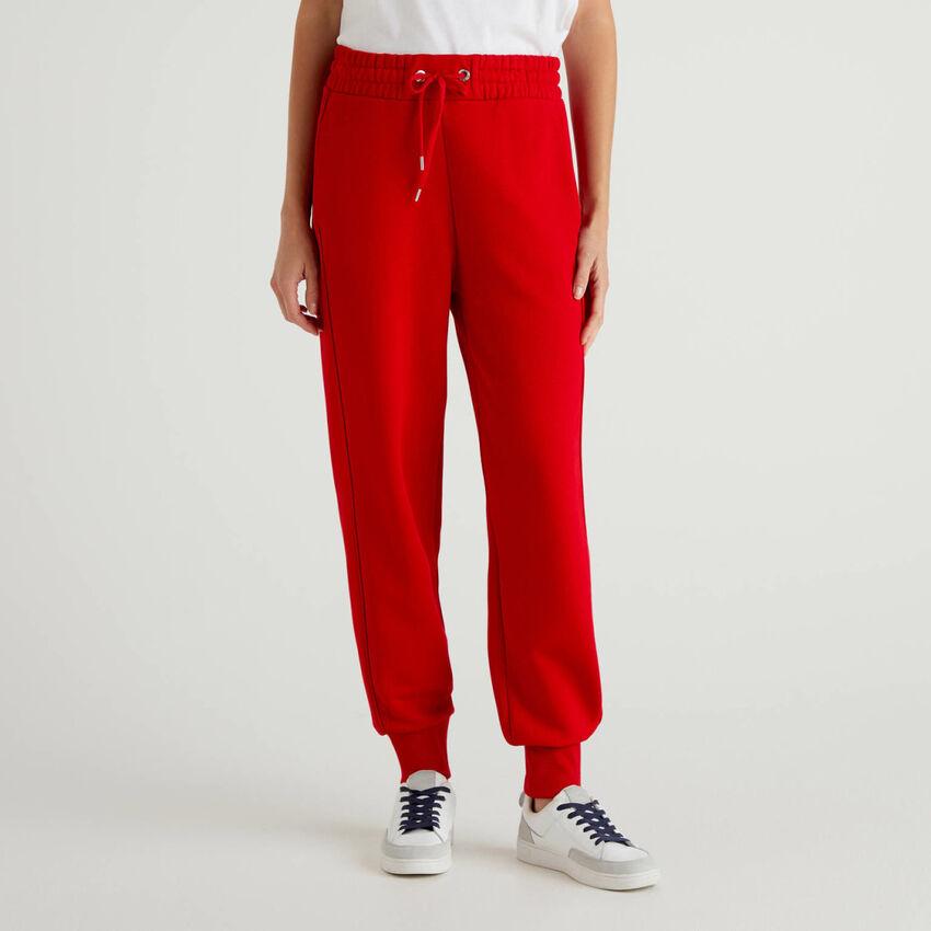 Sportliche Hose aus Sweatstoff in 100% Baumwolle