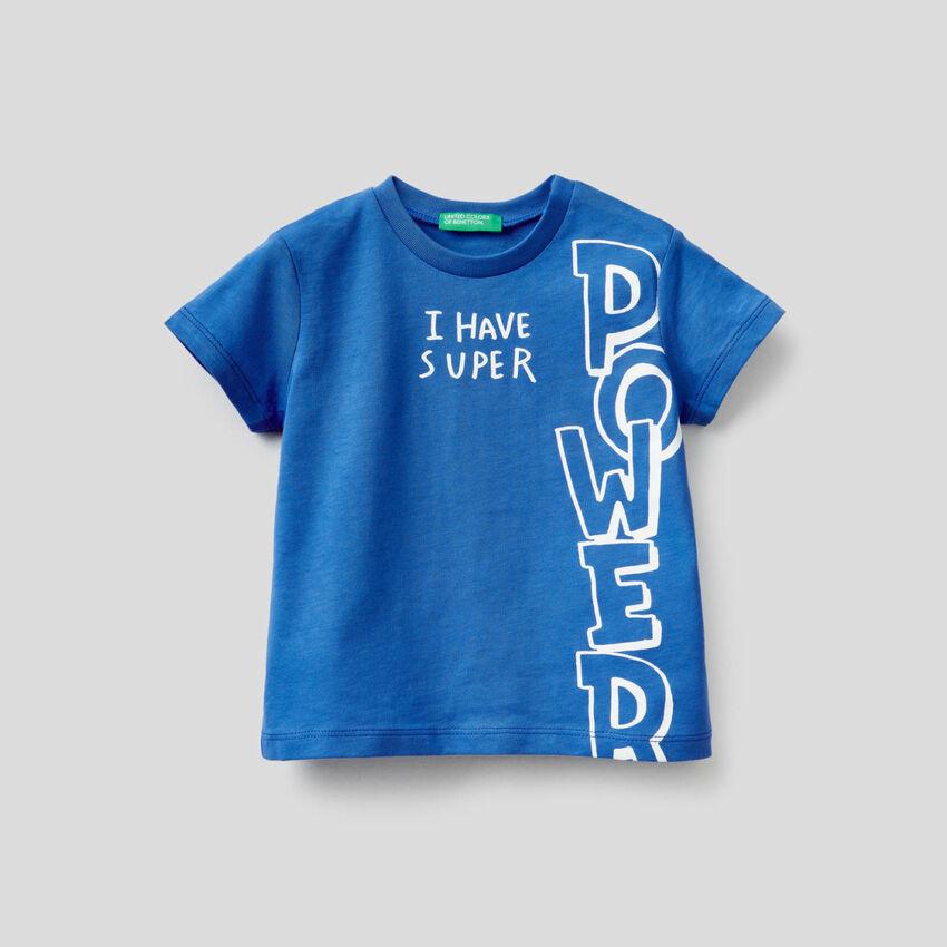 T-Shirt aus Baumwolle mit Slogan