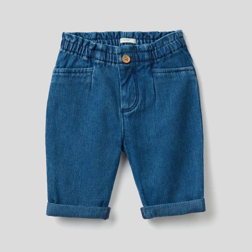 Hose aus Denim in Baumwolle