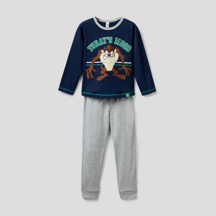 Pyjama mit Print Looney Tunes