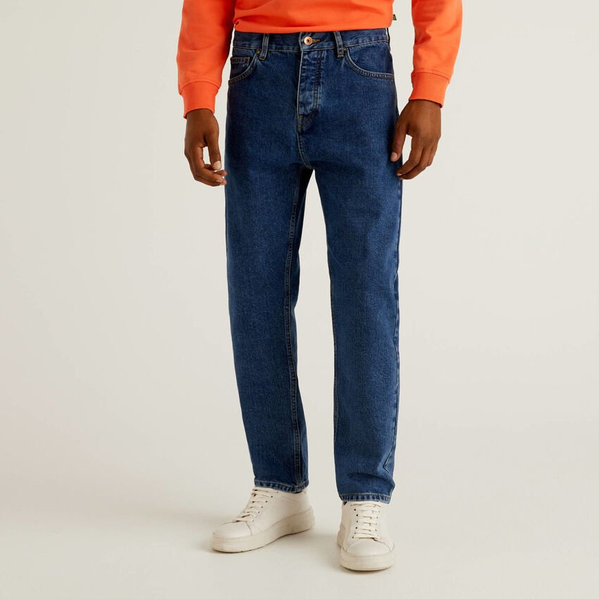 Cropped-Jeans in 100% Baumwolle