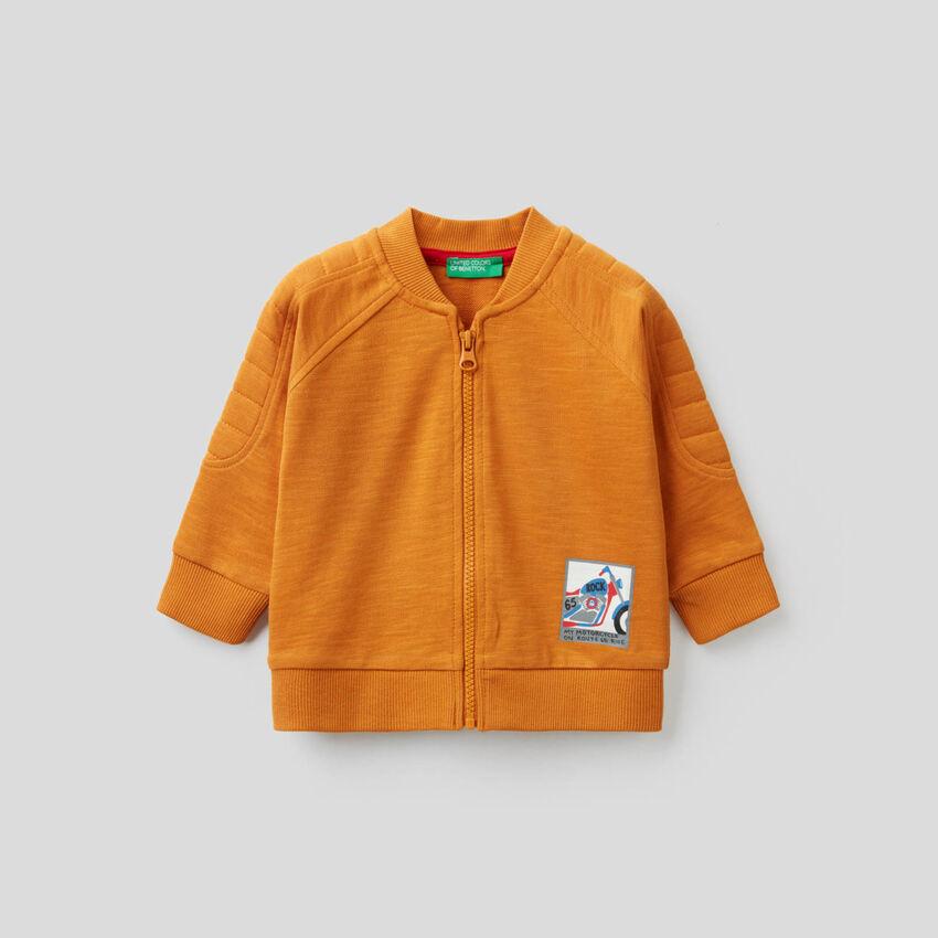 Sweatshirt im Bomber-Stil